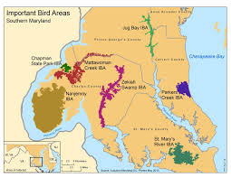 Map Of Maryland Southern Maryland Important Bird Areas Inform Land Use Planning