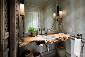 Live Edge Wood Shelves by Natural Slab Of Wood For Both Bathroom Shelves And Vanity Eva