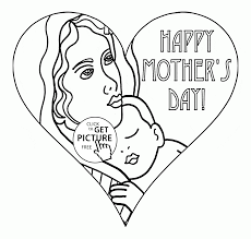 heart card for mother u0027s day coloring page for kids coloring pages