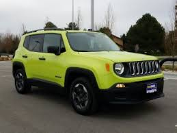 new jeep renegade green green jeep renegade for sale in el paso tx carmax