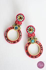 soutache earrings soutache jewelry soutache earrings circle earrings