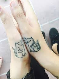 20 minimalistic cat tattoos for cat lovers bored panda