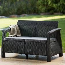 wicker patio sofas u0026 loveseats you u0027ll love wayfair