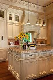 White With Brown Glaze Kitchen by Cream Colored Kitchen Cabinets With White Appliances Brown Glaze