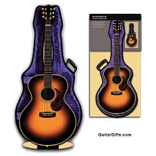 gifts guitar misc 3d acoustic guitar greeting card