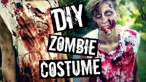 day of the dead zombie halloween mask diy zombie costume the walking dead inspired youtube