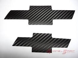 logo chevrolet 2x genuine 3m dinoc carbon fiber logo insert 06 10 chevrolet