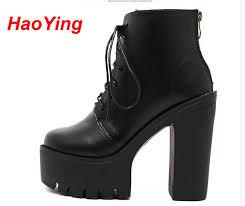 womens platform boots size 11 aliexpress com buy high heel boots autumn winter shoes