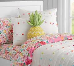 Pottery Barn Comforter Bright Pom Pom Quilted Bedding Pottery Barn Kids Norah U0027s Big