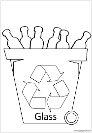 glass recycling bin coloring page free coloring pages online