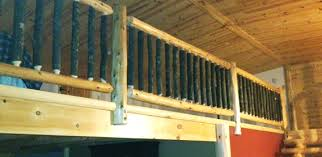 Premade Banister Log Railings For Easy Installation Northern Log Supply