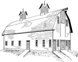 big red barn coloring page clip art library