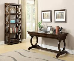 enedina brown transitional desk from coaster 801211 coleman