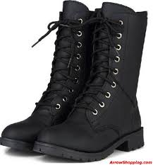 high motorcycle boots arrow british style women martin boots vintage black leather short