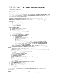 Sample Resume For Camp Counselor Camp Counselor Resume Gaincreditscore Com