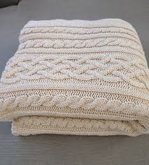Knitting Home Decor Aran Cable Knit Throw Blanket Home Decor U0026 Lighting Relais