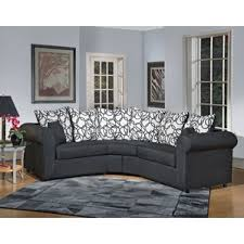 Curved Leather Sofas with Curved Sectional Sofas You U0027ll Love Wayfair