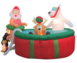 christmas inflatables airblown inflatables animated 5 above ground pool