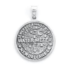 new orleans water meter jewelry sterling silver new orleans water meter pendant