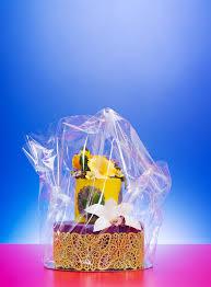cellophane wrap colorful cake in cellophane wrap stock image image of dessert