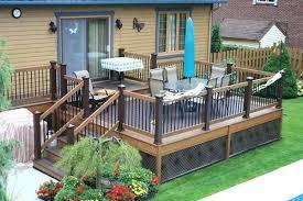 Patio Deck Designs Pictures Small Backyard Decks Patios Back Patio Deck Ideas Concrete Patio