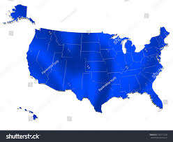 Usa Map Alaska by Map Usa 3d Render Include Hawaii Stock Illustration 136171229
