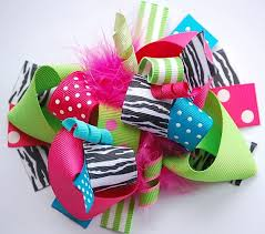 loopy bow funky hip girl boutique free hair bow learn