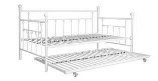 white trundle bed frame for small contemporary bedroom