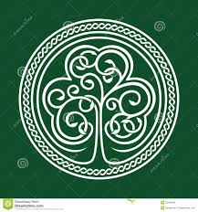st s day shamrock on a green background stock vector