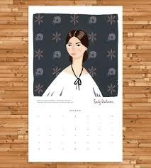 Wall Calendar Organizer 2017 Ladies Of Literature Wall Calendar Features Happy Holidays