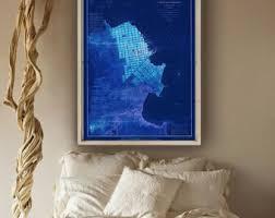 san francisco map painting san francisco map etsy