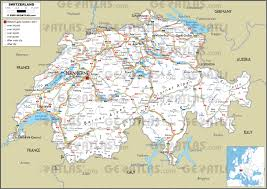 Switzerland World Map by Geoatlas Countries Switzerland Map City Illustrator Fully