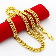 fashion jewelry gold necklace images Chains man necklaces jewelry 24k gold 6 5mm men 39 s 24k gold long jpg