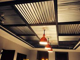 corrugated metal ceiling basement enchanting paint color