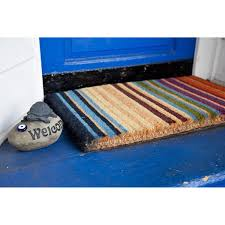 woven thick rainbow coir doormat 1 6 x 2 6 free