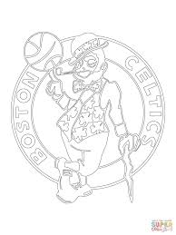 boston celtics logo coloring page free printable coloring pages