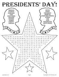 free printable presidents u0027 day word search
