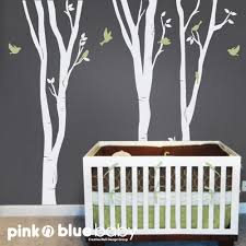 Nursery Wall Decorations Removable Stickers Wall Decals Birch Tree Nursery Removable Wall Vinyl Decal
