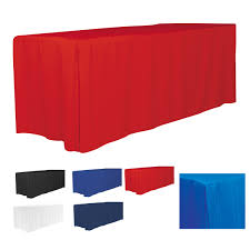 Plastic Fitted Tablecloths 4 Sided Fitted Style 6 Ft Table Cloth U0026 Covers Blanks