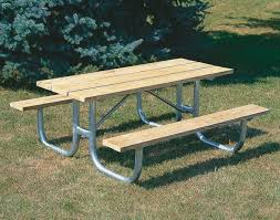 Plans For Building A Heavy Duty Picnic Table by Extra Heavy Duty Welded Frame Picnic Table