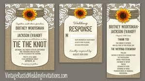 jar invitations burlap wedding invitations vintage rustic wedding invitations