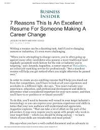 What Is An Online Resume by Ideal Resume For Someone Making A Career Change Business Insider