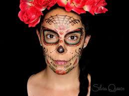 sugar skull makeup using temporary tattoos silvia quirós
