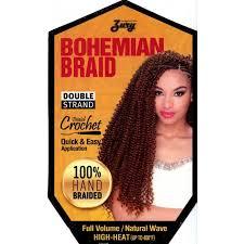 bohemian crochet hair zury synthetic crochet braid bohemian braid