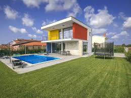 modern villa in piet mondrian colors homeaway dračevac
