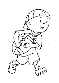 caillou plays coloring pages for kids printable free my