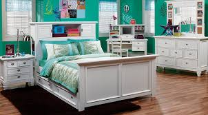 Bed Sets White Belmar White 6 Pc Bookcase Bedroom Bedroom Sets Colors