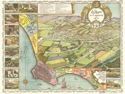Maps Los Angeles by Vintage Map Los Angeles California 1871