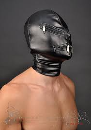 leather mask sensory deprivation leather mask with zippers
