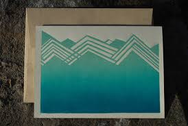 blue mountains note card starfangled press